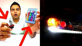 NEW LED Color Changing HEADLIGHTS!!! (With Remote)