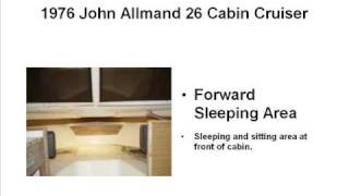 John Allmand 26 Cabin Cruiser For Sale