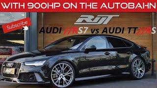 Met 900pk over de  Autobahn van Leipzig naar Nederland. Audi RS7 vs Audi TTRS