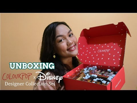 UNBOXING Colourpop X Disney Designer Collection + Swatches \u0026 First Impressions
