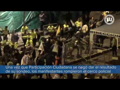 Disturbios en los exteriores del Consejo Nacional Electoral de Quito