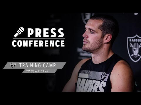 derek-carr-discusses-finishing-drives-&-the-speed-of-henry-ruggs-iii-|-las-vegas-raiders