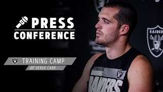 Derek Carr Discusses Finishing Drives & the Speed of Henry Ruggs III | Las Vegas Raiders