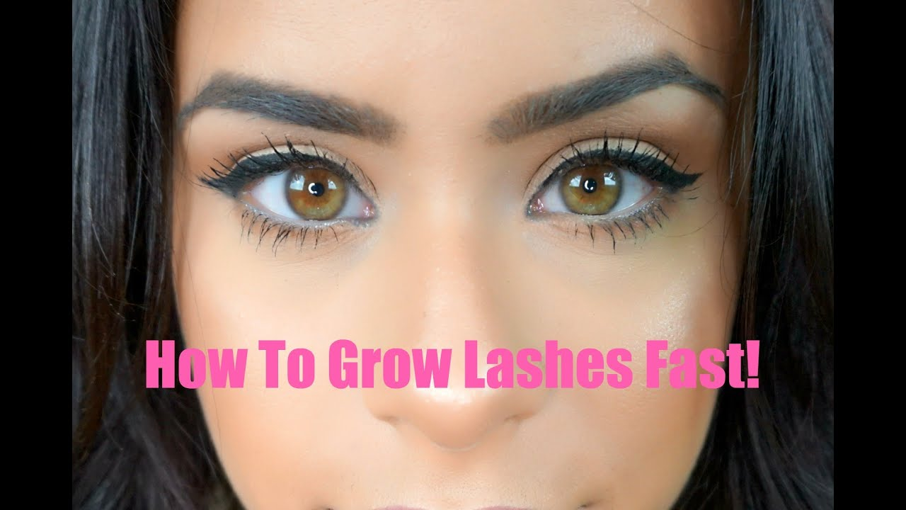 how to make your lashes grow
