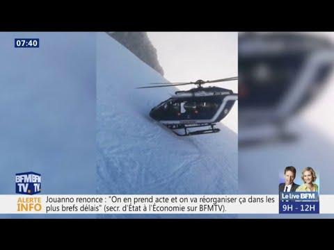 Un Hélico Le Nez Dans La Neige... Les Images De Ce Sauvetage Dans Les Alpes Sont Impressionnantes