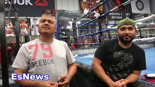 World Strogest Mexican Big Boy Getting Boxing Lesson From Robert Garcia EsNews Boxing