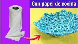 DIY HECHO CON PAPEL DE COCINA FÁCIL