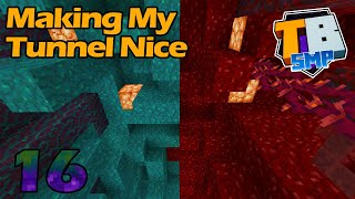 Making my Nether Tunnel Nice! - Truly Bedrock S2E16