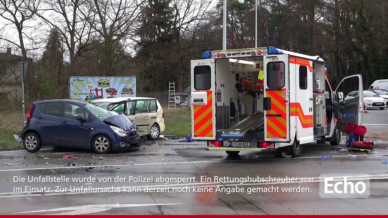Schwerer Verkehrsunfall in Darmstadt-Eberstadt - YouTube