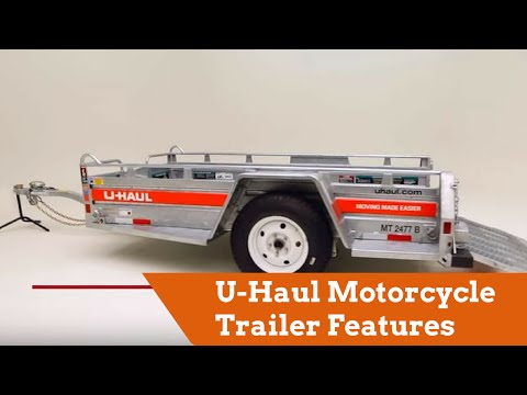 U-Haul Motorcycle Trailer Features