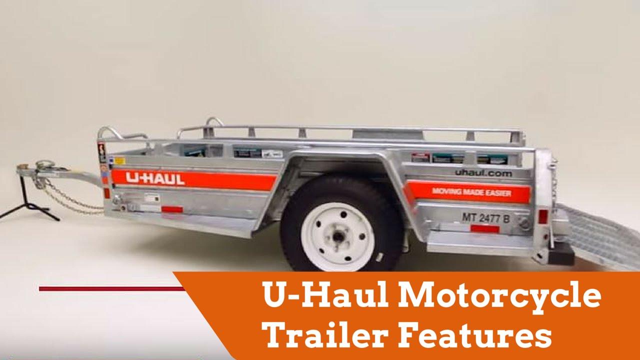 medium resolution of u haul motorcycle trailer features