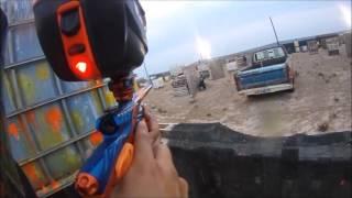 Odessa Area Outdoor Gun Range Paintball battle mash up