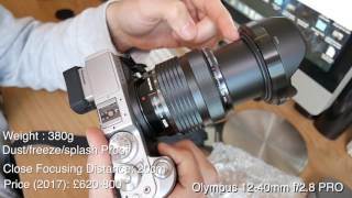 Olympus 12-40mm f/2.8 Pro : Unboxing, First impressions + Image Comparison