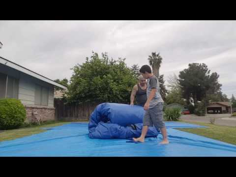 Double Slide 15 ft Bounce House first time set-up