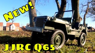 JJRC Q65 RC Willys MB Jeep. 1/10 Scale Cheap $50 RC Truck. Review