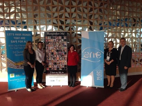 IRVA at 'One Young World' - Road Safety session - Dublin 2014