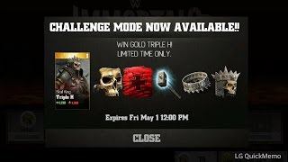 WWE Immortals on Android (glitch): How to Reset the Character Challenge (Triple H)