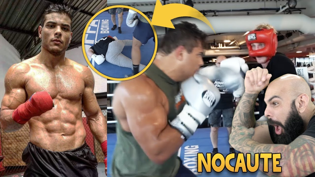 REAGINDO AO TREINO DO PAULO BORRACHINHA DO UFC | NOCAUTE NO LOGAN PAUL