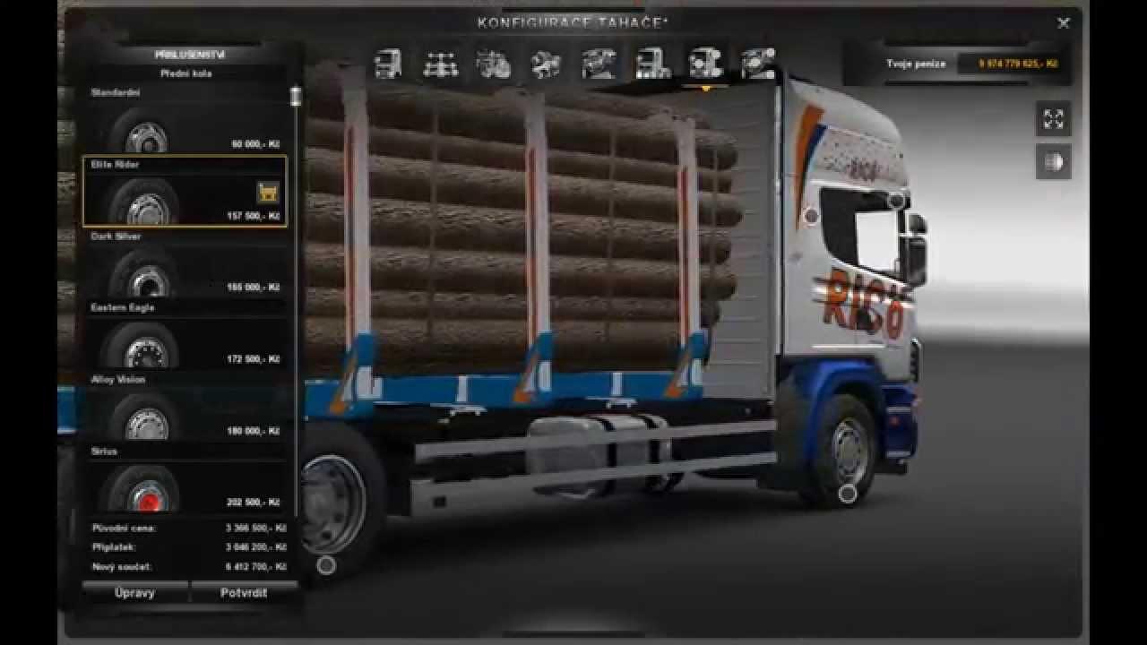 Euro Truck SImulator 2 Scania 164 Tandem + Tuning + Trailer - YouTube