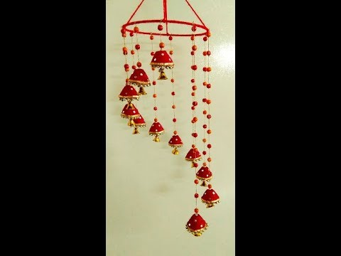 Beautiful Diwali Home Decoration Idea, DIY Diwali Wind Chime, How to make an Egg Carton Wind Chime
