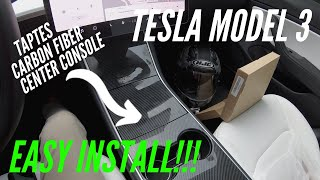 fINALLY it's NOT Vinyl | Tesla Model 3 | Taptes Center Console