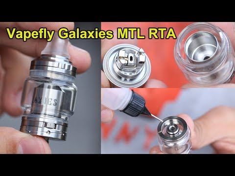Best mouth to lung vape ? |  Vapefly Galaxies MTL RTA | 1st. Gearwheel Airflow control | ElegoMall
