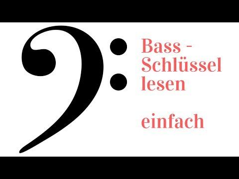 Noten lernen - Bassschlüssel - auch mit Eselsbrücken
