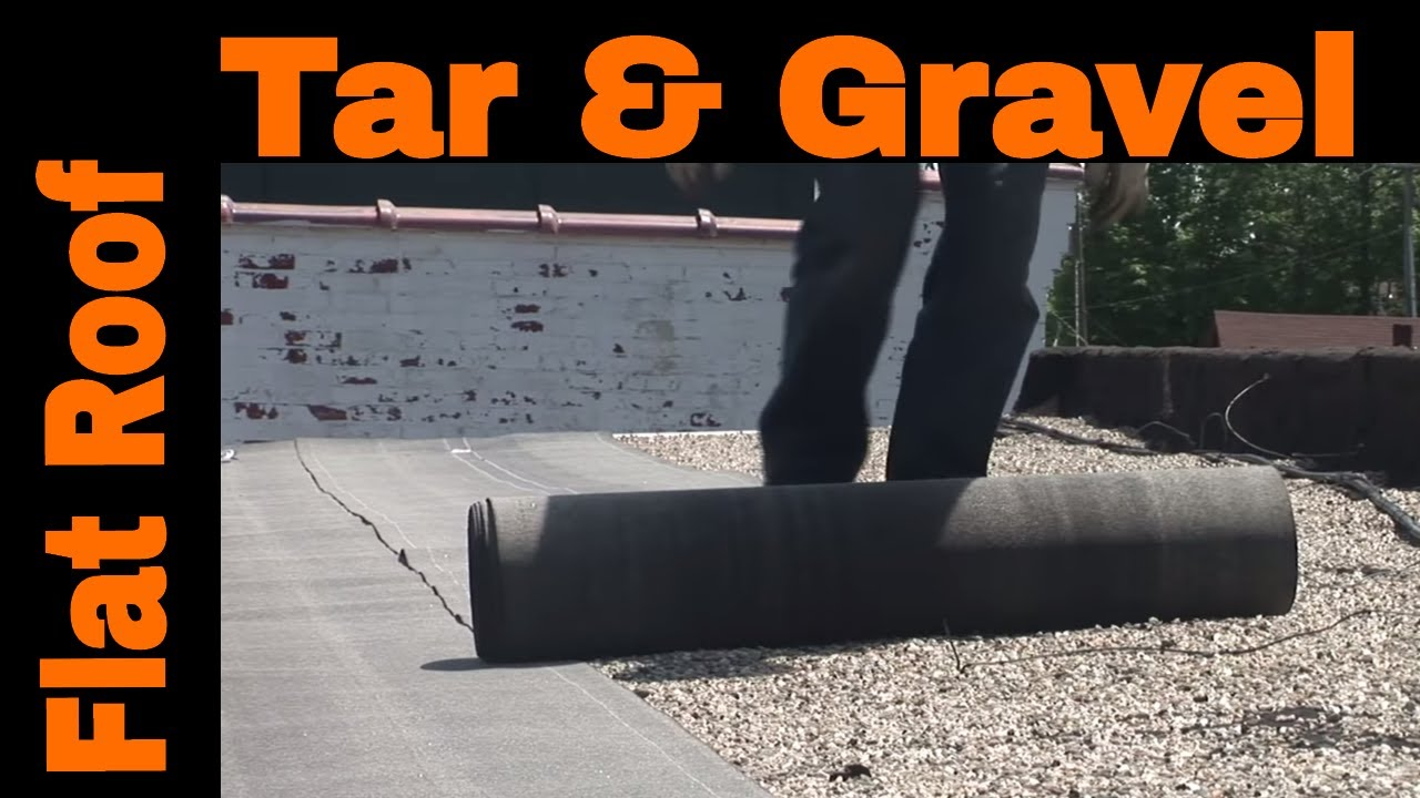 Flat Roof Installation Over Tar And Gravel Most Effective Recover Roofing System Youtube