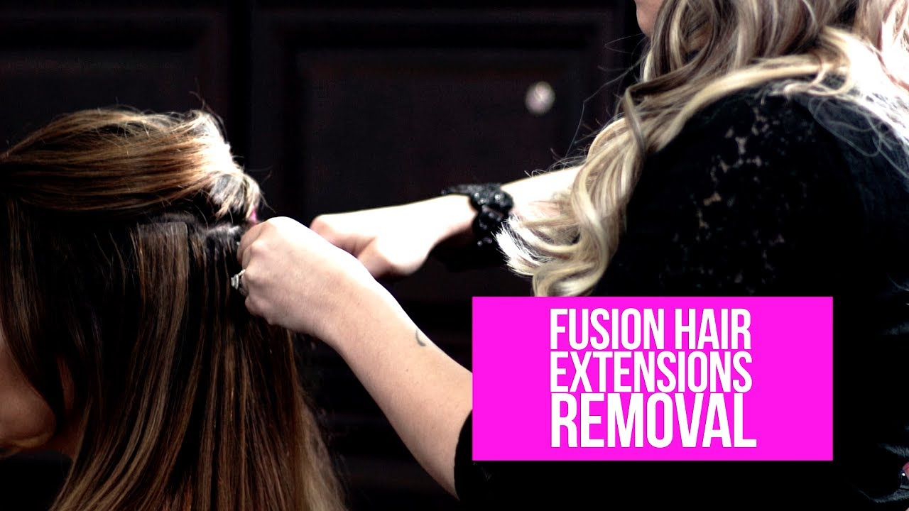 Fusion Hair Extensions Removal Glo Extensions Denver Youtube