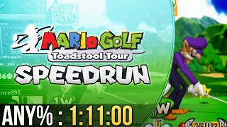 Mario Golf: Toadstool Tour Any% Speedrun in 1:11:00