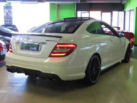 2013 mercedes benz c class c 63 coupe amg performance pack white on red auto for sale on auto. Black Bedroom Furniture Sets. Home Design Ideas