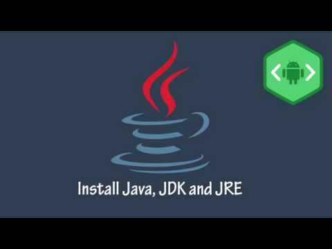 Android App Development Tutorial #1 Install Java, JDK and JRE Windows