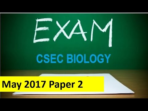 CSEC Biology May 2017 Paper 2 (Question 1)