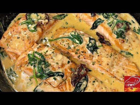 Creamy Tuscan Salmon Recipe | Creamy Salmon Recipe