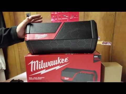 Milwaukee M18 / M12 Bluetooth Jobsite Speaker Review (2891-20)
