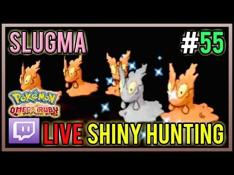[Live] Shiny Slugma At 115 Horde Encounters | Live Shiny Hunt #55 | Pokemon Omega Ruby