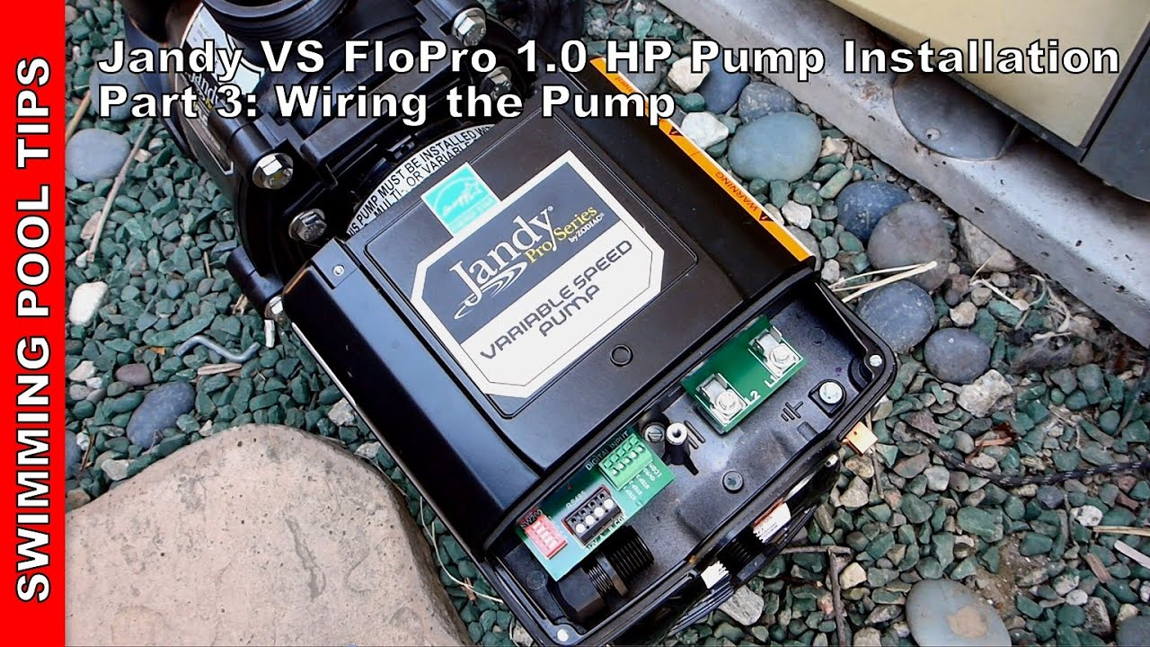 jandy vs flopro 1 0 hp pump installation part 3 wiring the pump rh youtube com jandy stealth pump wiring diagram Payne Heat Pump Wiring Diagram