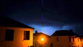 Intense thunderstorm over Brighton, UK, July 2014