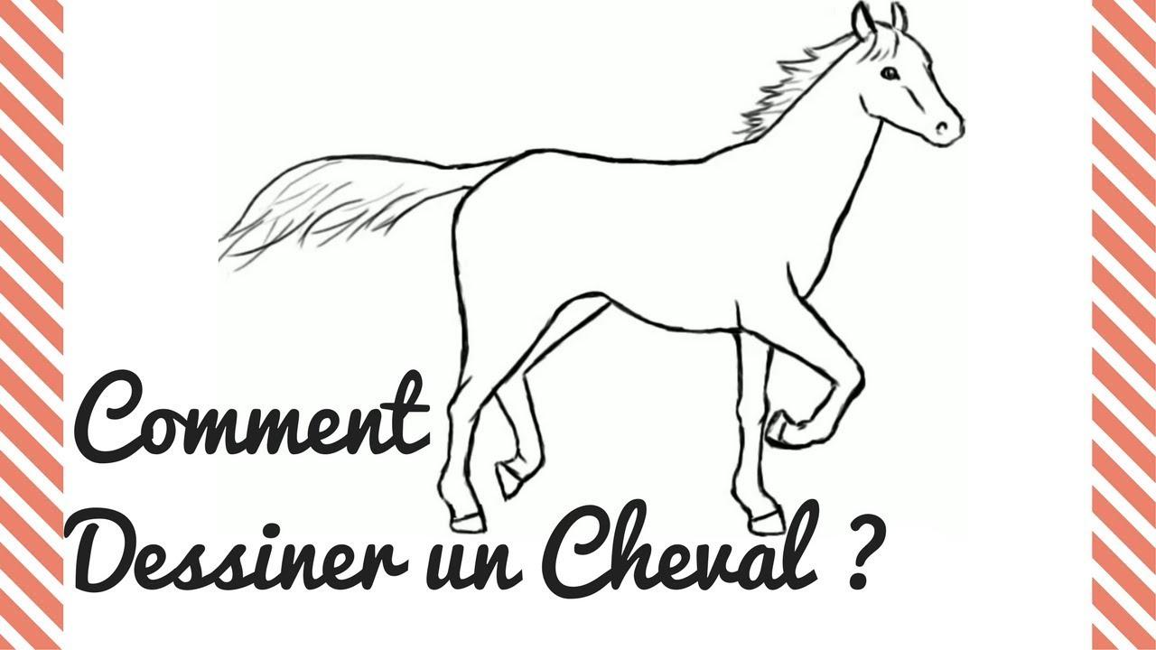 Comment dessiner un Cheval ?🐴 Tuto dessin | Crayons et ...