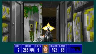 (Wolfenstein 3D) Operation Wasserstein (ECWolf) - Floor 2 100%