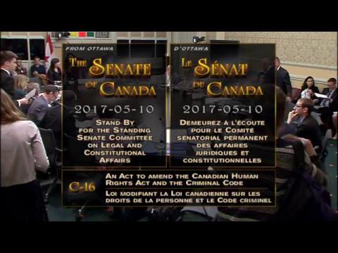 Canadian Senate Bill C-16 Discussion May 10