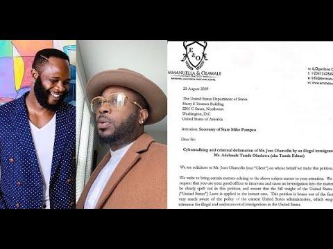 Bloggersatwar Joro Olumofin Files Lawsuit Against Tunde Ednut Teatime Youtube Dont call me a blogger, i'm an entertainer. bloggersatwar joro olumofin files lawsuit against tunde ednut teatime