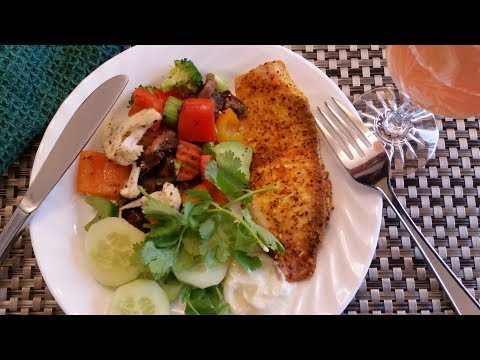 Lemon Pepper Tilapia - Oven Roasted Vegetables - Amazing Flavor