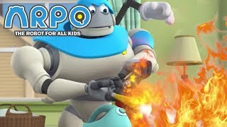 ARPO The Robot For All Kids - Fire and Danger | Compilation | Cartoon for Kids