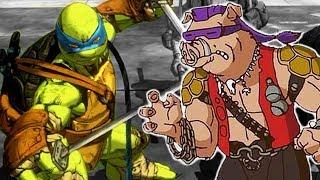 Видео   Черепашки Ниндзя дерутся с ОГРОМНЫМ БОССОМ БИБОП крутая игра для мальчиков FGTV