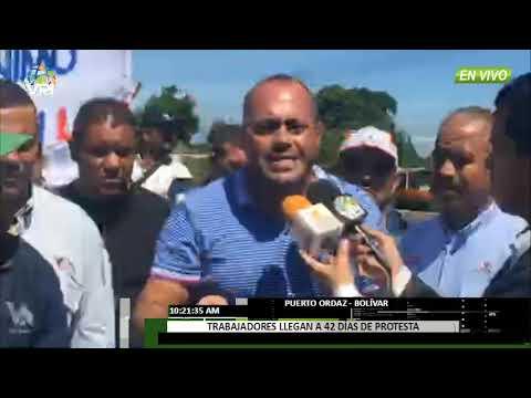 Venezuela - Trabajadores de Guayana permanecen 42 días en protesta contínua  - VPItv