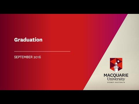 Macquarie Graduation 20 September 2016 at 2.30pm