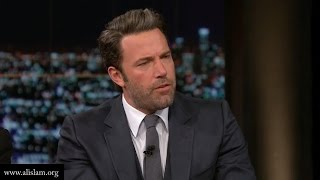 response to real time with bill maher ben affleck sam harris and bill maher debate radical islam