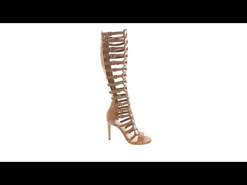 5c25ad33aeac Vince Camuto Chesta Leather Gladiator Boot - YouTube