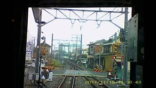 東武野田線20171118前方車窓